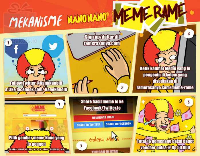 Kontes Meme #MemeRame Nano Nano Berhadiah Pulsa 800K