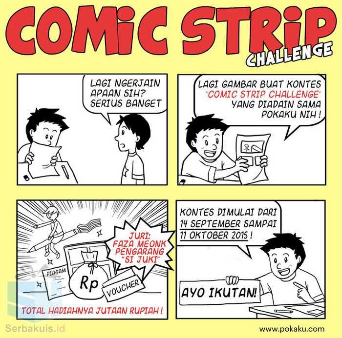 Kontes Pokaku Comic Strip Challenge Berhadiah Jutaan Rupiah