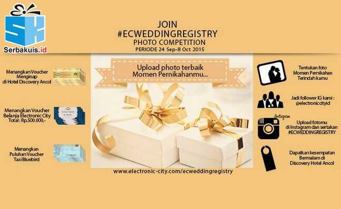Kontes Wedding Registry Hadiah Menginap di Hotel Discovery Ancol