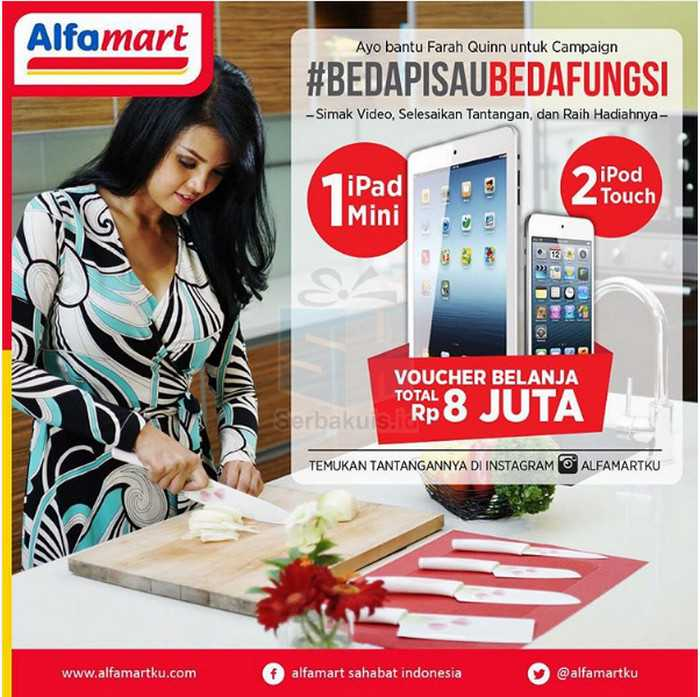 Kuis Alfamart #BEDAPISAUBEDAFUNGSI Berhadiah Ipad Mini 2 Ipod Touch & Voucher Belanja