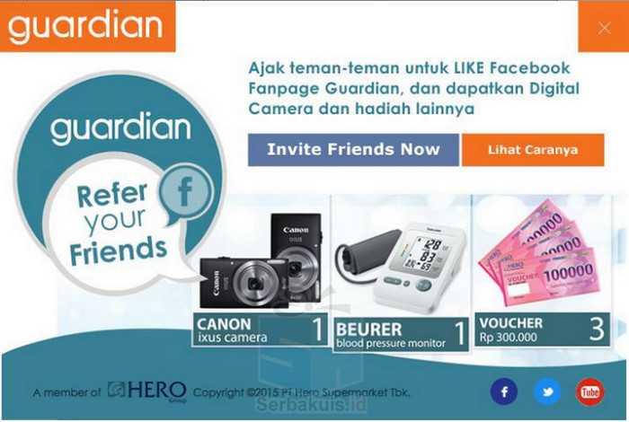 Kuis Guardian Indonesia Berhadiah Kamera Voucher & Hadiah Menarik Lainnya