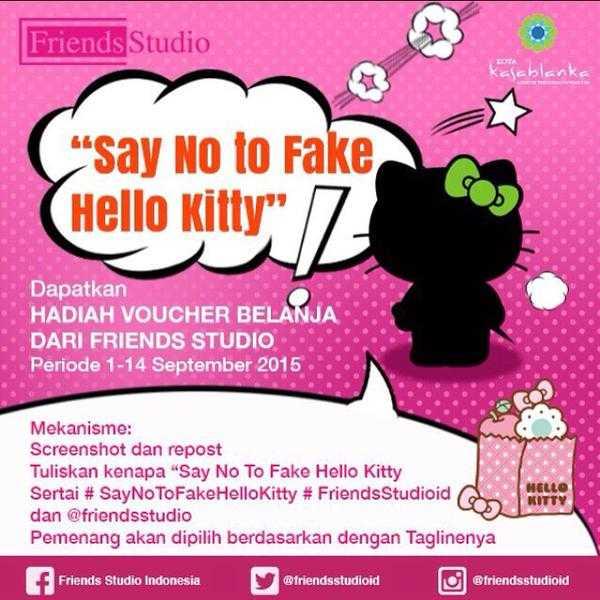 Kuis Say No to Fake Hello Kitty Berhadiah Voucher Belanja