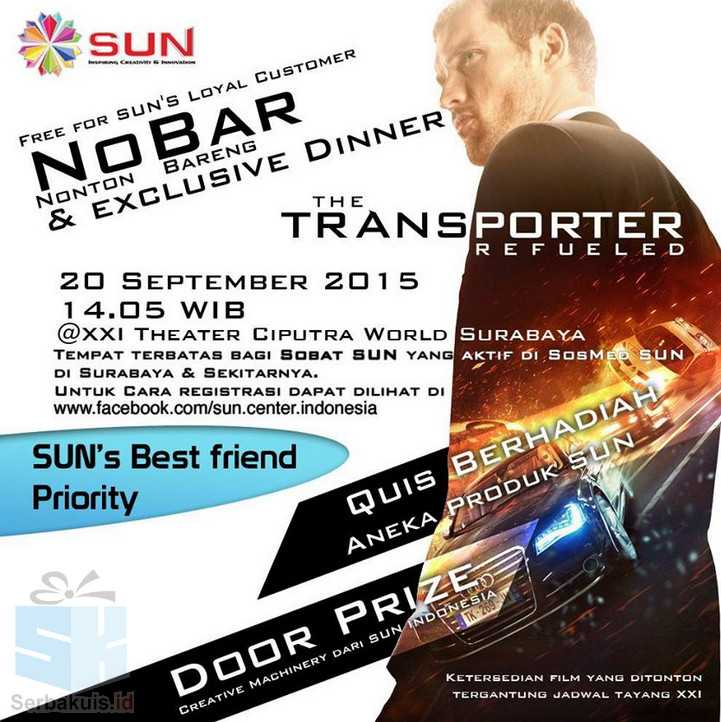 Kuis Sun Indonesia Berhadiah Nobar The Transporter Refueled