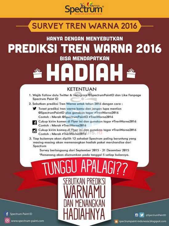 Prediksi Tren Warna 2016 Berhadiah 12 Merchandise per Bulan