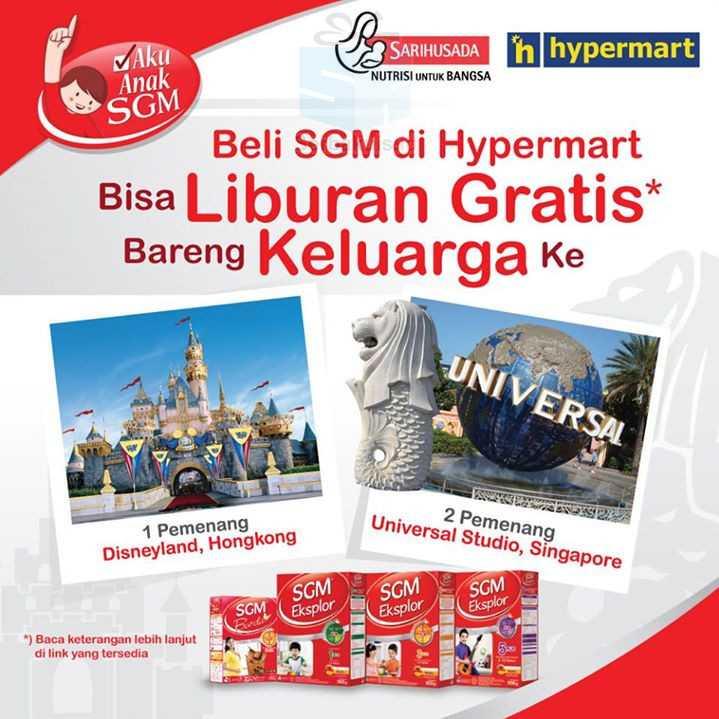 Promo SGM & Hypermart BErhadiah Liburan Ke Disneyland Hongkong