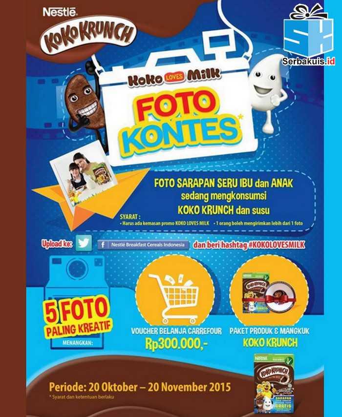 Kontes Foto Koko Loves Milk Berhadiah Voucher Carrefour & Produk