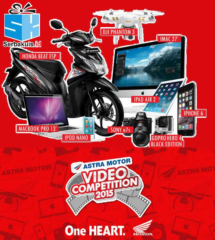 Kontes Video Astra Ride With Heart Berhadiah Motor, iMac, GoPro, DJI Phantom 3, dll