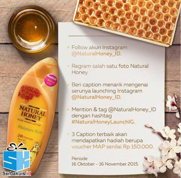 Kuis Regram Natural Honey Berhadiah 3 Voucher MAP
