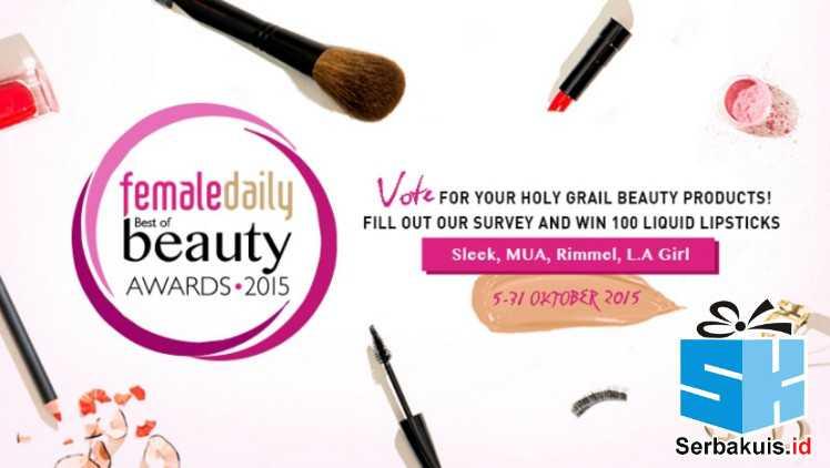 Kuis Survey Best Beauty Awards 2015 Berhadiah 100 Liquid Lipstick