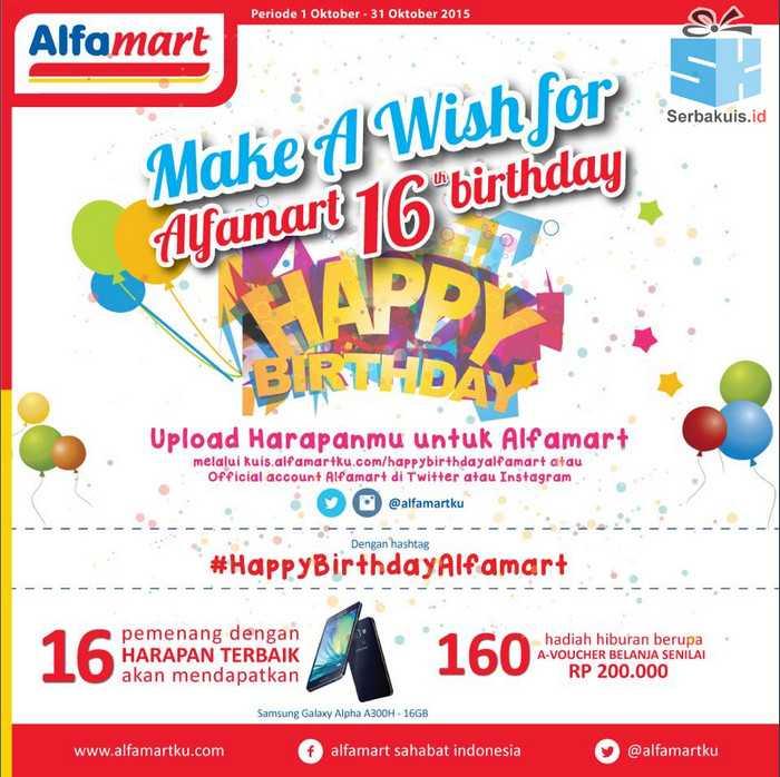 Kuis Ultah Alfamart Berhadiah 16 Samsung Galaxy Alpha A300H 16GB