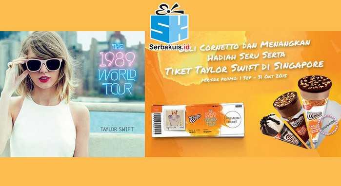 Undian LINE Cornetto Berhadiah 150 Paket Konser Taylor Swift Singapura
