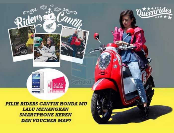 Voting Riders Cantik Honda Berhadiah Smartphone & Voucher 5 Juta
