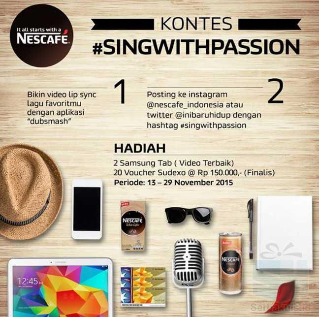 Kontes Lipsync Nescafe Berhadiah 2 SAMSUNG Galaxy Tab