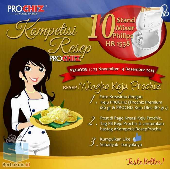 Kontes Wingko Keju Prochiz Hadiah 10 Stand Mixer Philips HR 1538