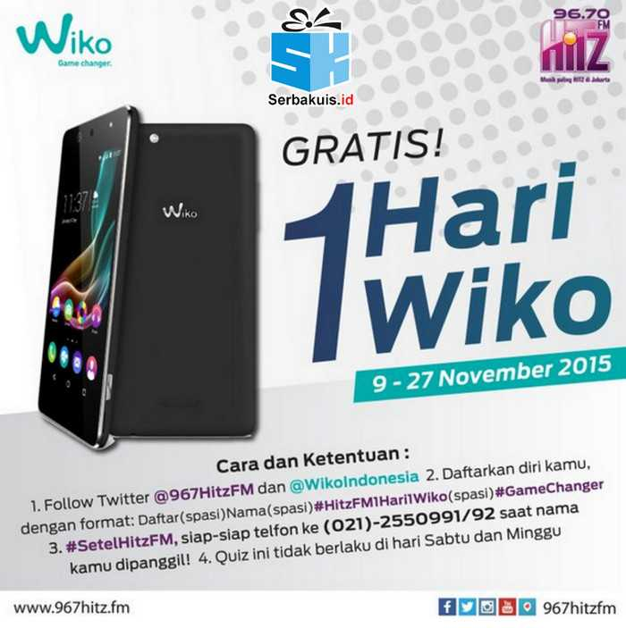 Kuis Hitz FM 1 Hari 1 Wiko