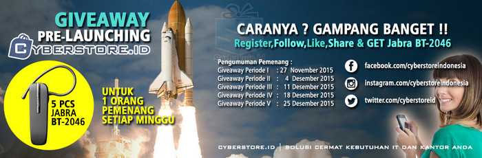 Kuis Pre-Launchin Cyberstore Berhadiah 5 Jabra BT-2046