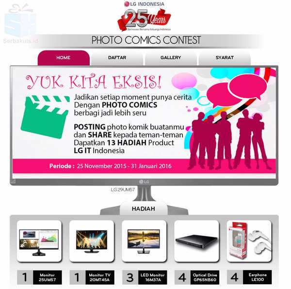 LG IT Photo Comic Contest Berhadiah 5 Monitor