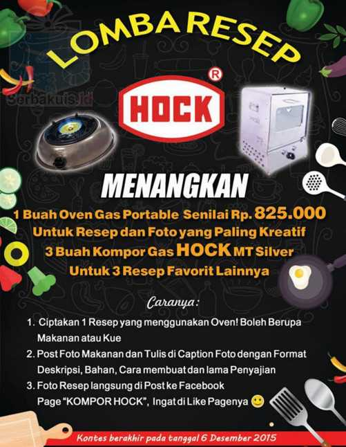 Lomba Resep Hock Berhadiah Oven & 3 Kompor Gas