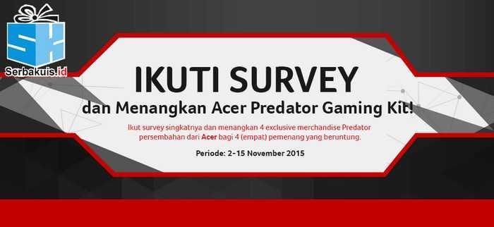 Survey Online Berhadiah Acer Predator Gaming Kit