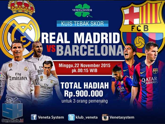 Tebak Skor Real Madrid vs Barcelona Berhadiah 900 Ribu