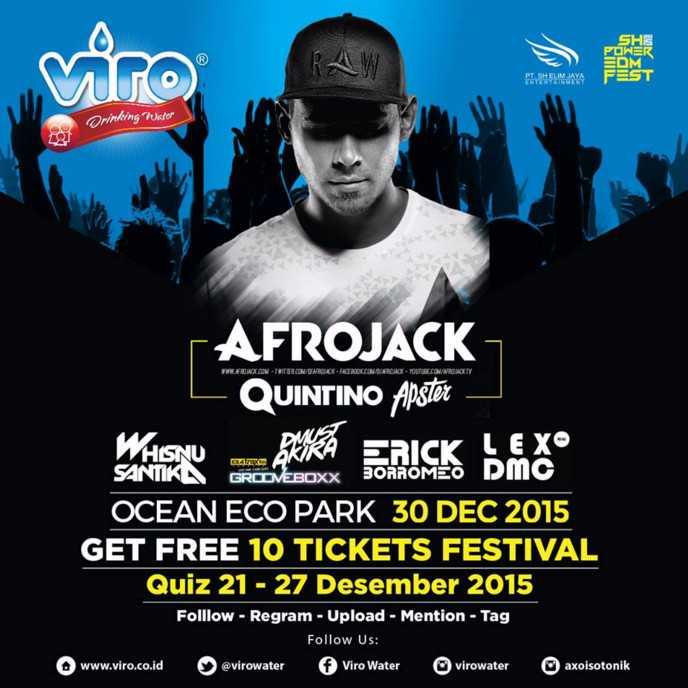 Ikuti Viro Quiz Menangkan 10 Tiket Festival AfroJack