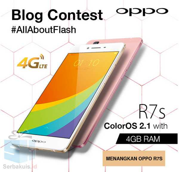 Kontes Blog All About Flash Berhadiah Oppo R7s & Neo7