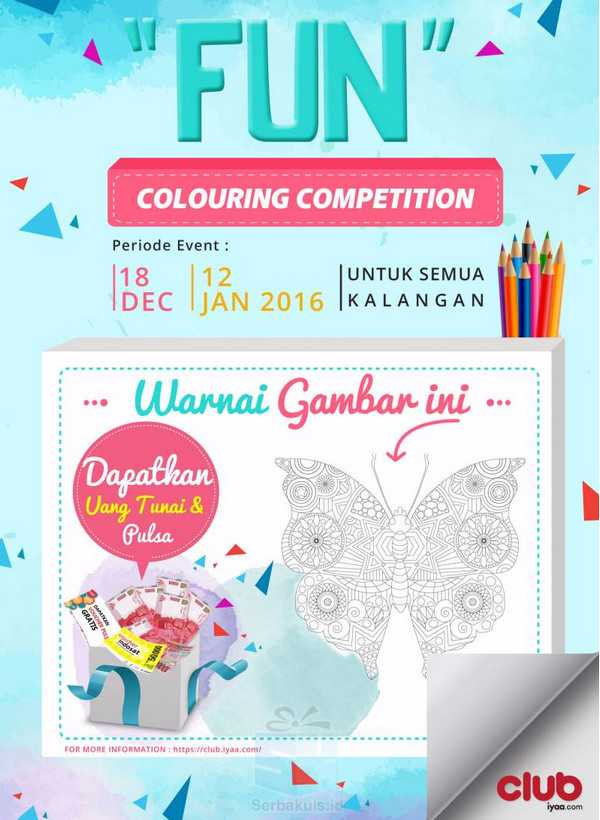 Kontes Fun Coluring Club Iyaa Berhadiah Uang & Pulsa 500K