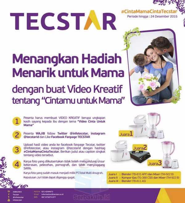 Kontes Video Cintamu Untuk Mama Berhadiah Blender, Mixer & Kompor