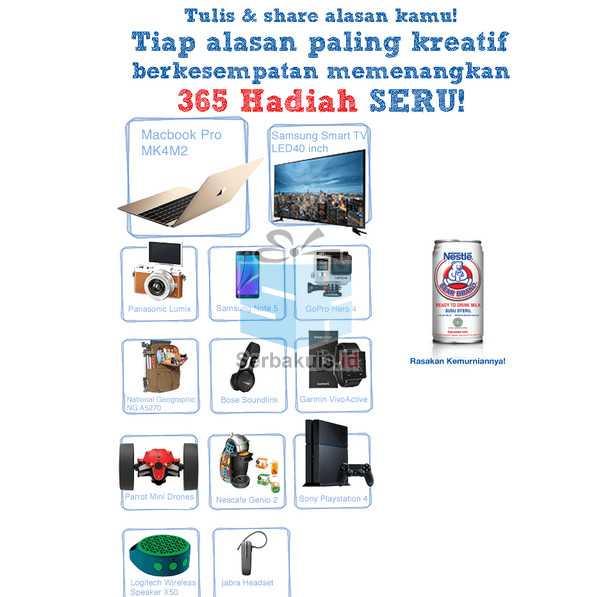 Kuis 365 Alasan Bear Brand Hadiah SAMSUNG Smart TV 40 Inchi