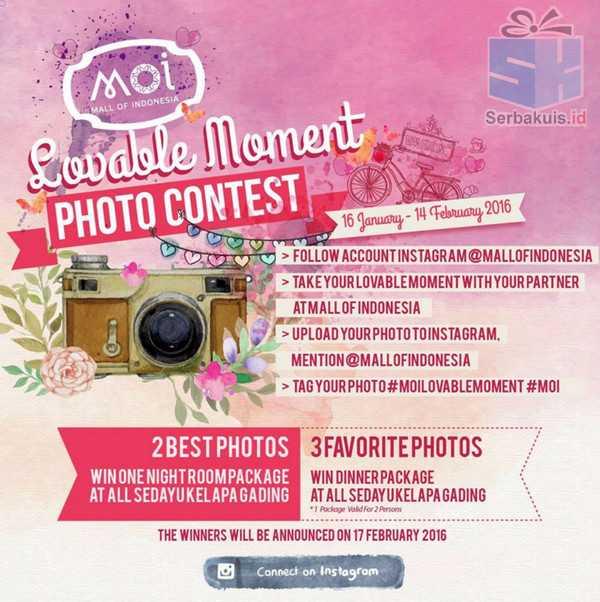 Kontes Foto Lovable MOI Berhadiah Paket Menginap & Dinner