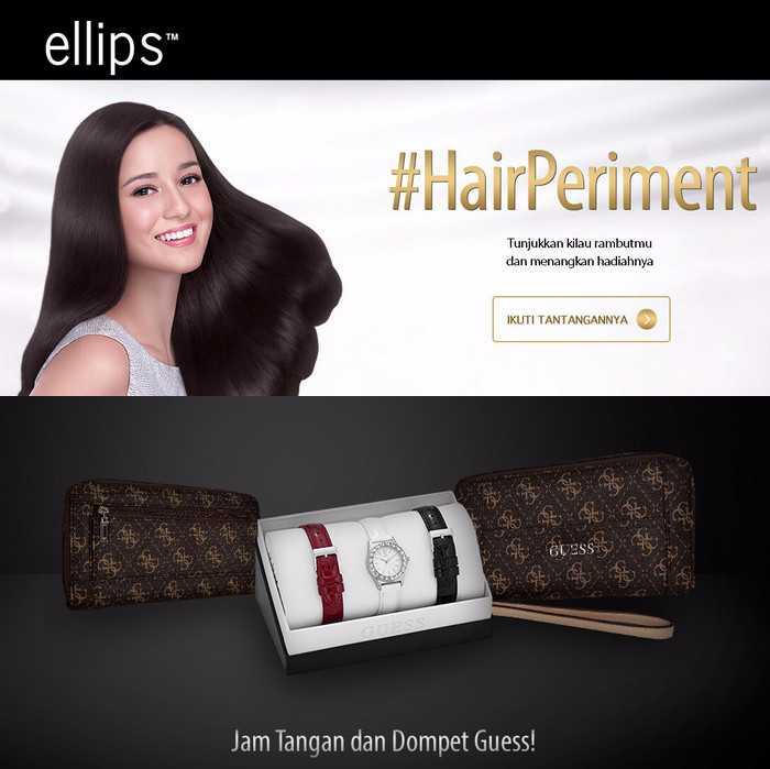 Kontes Hair Periment Ellips Berhadiah Jam Tangan GUESS