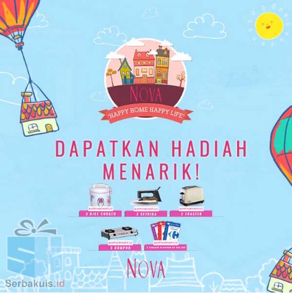 Kontes NOVA Happy Home Happy Life Berhadiah 3 Rice Cooker