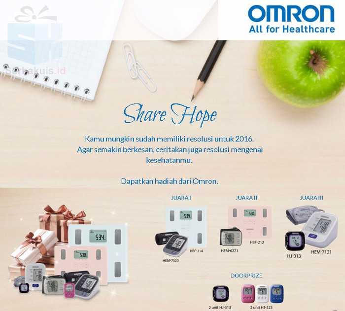 Kontes Share Hope Berhadiah 7 Paket Produk Omron Gratis