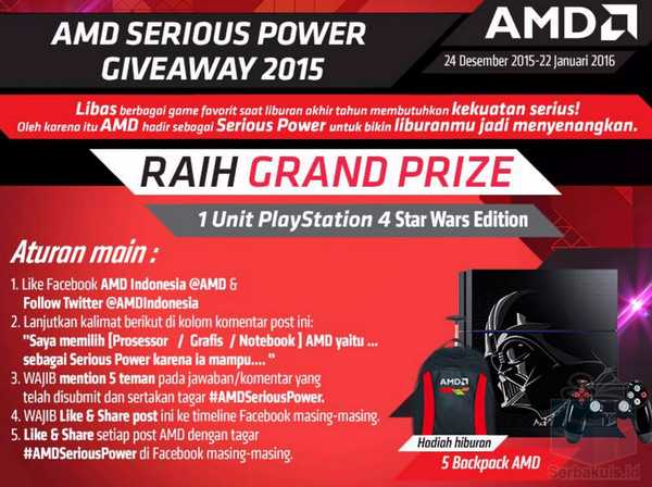 Kuis AMD Serios Power Berhadiah Playstation 4 Star Wars