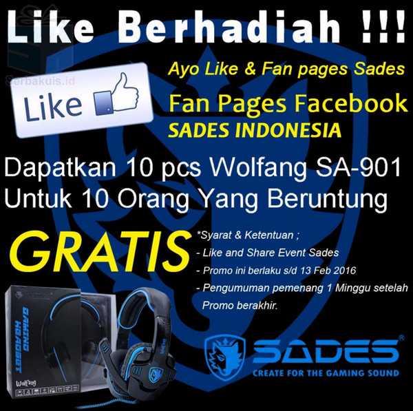Kuis Like Berhadiah 10 Headset SADES Wolfang SA-901