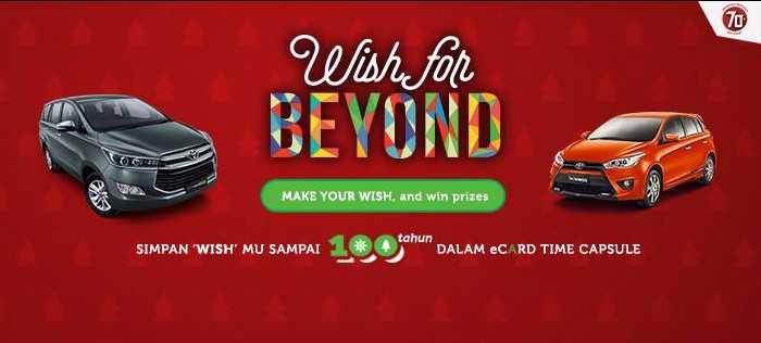 Kuis Wish For Beyond Toyota Berhadiah Audio Mobil Pioneer, Kamera, dll