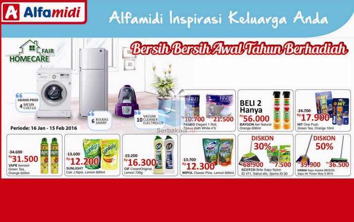 Promo Homecare Fair Alfamidi Berhadiah Utama 4 Mesin Cuci