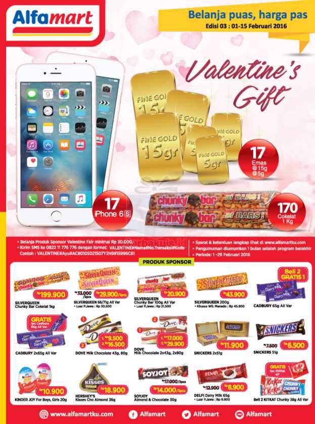 Promo Undian Valentine's Gift Alfamart Berhadiah 17 iPhone 6