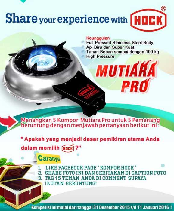 Share Your Experience with HOCK Berhadiah 5 Kompor Gas