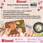 Kontes Resep Cinta Rinnai Berhadiah 5 Kompor RI-150CC