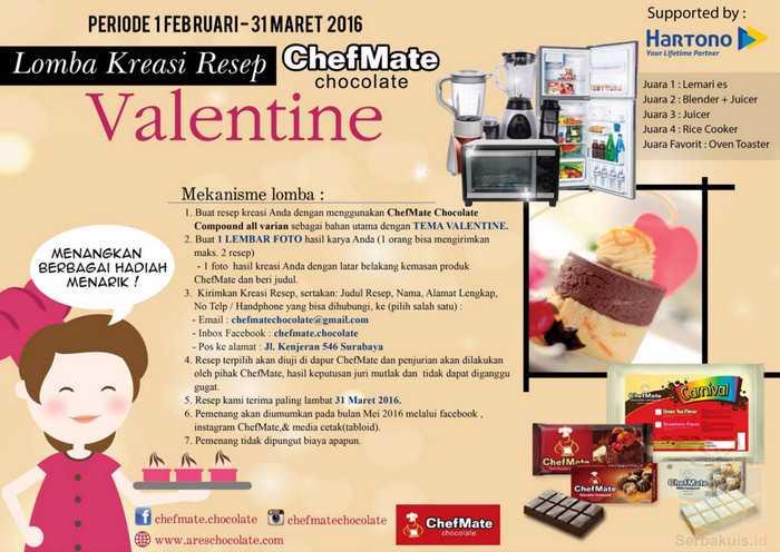 Lomba Kreasi Resep Valentine Chefmate Berhadiah Kulkas