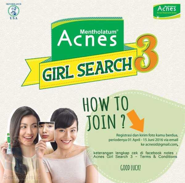 Kontes Acnes Girl Search 3 Berhadiah Uang 10 Juta Rupiah