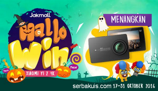 Kuis Jakmall HalloWin Berhadiah Kamera Xiaomi Yi 2 4K & Flashdisk