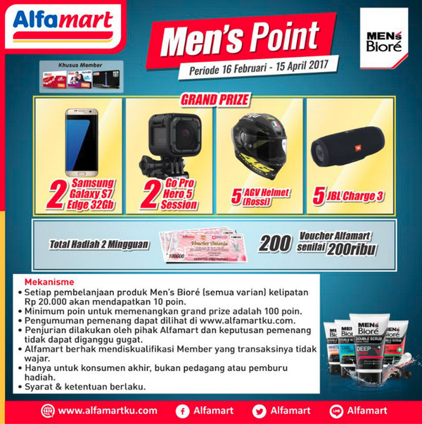 Promo Men's Biore Point Alfamart