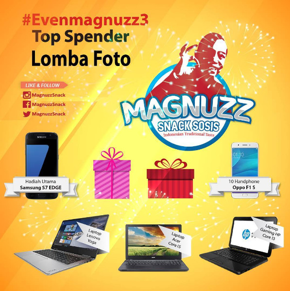 Even Magnuzz 3 Top Spender Lomba Foto