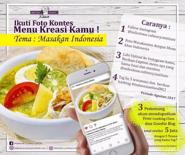 Kontes Foto Menu Masakan Indonesia Berhadah Total 5 Juta Rupiah