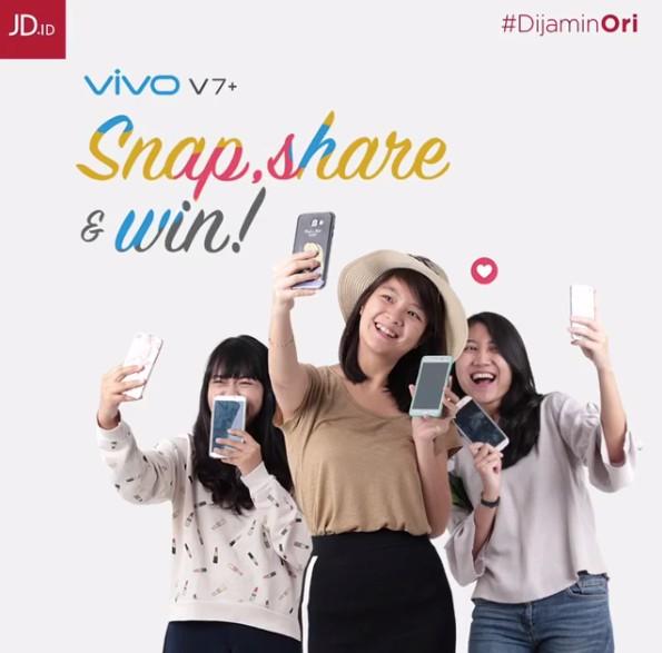 Kontes Foto Bersama Handphone Berhadiah Smartphone VIVO V7+
