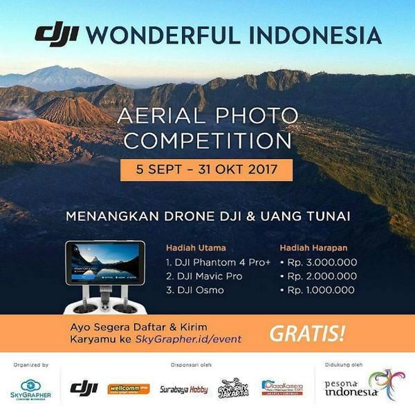 Lomba Foto DJI Wonderful Indonesia Berhadiah 3 Drone DJI & Uang 6 Juta