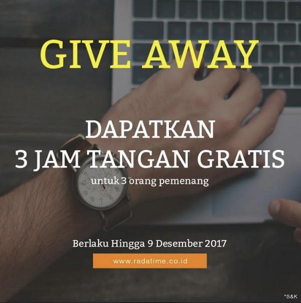Giveaway 3 Jam Tangan Gratis