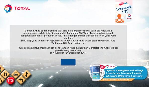 Kuis Tantangan SIM Total Berhadiah 2 Smartphone & Pulsa Total 800 Ribu